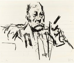Jack Levine (American, 1915-2010). <em>Texas Delegate</em>, 1970. Lithograph, Image: 16 x 19 1/2 in. (40.6 x 49.5 cm). Brooklyn Museum, Gift of Peter R. Blum, 1998.191.13. © artist or artist's estate (Photo: Brooklyn Museum, CUR.1998.191.13.jpg)