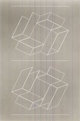 Josef Albers (American, 1888-1976). <em>White Embossing on Gray II</em>, 1971. 1 color line cut embossed, sheet: 26 1/2 x 20 1/8 in.  (67.3 x 51.1 cm). Brooklyn Museum, Gift of Leslie A. Feely, 2000.130.1. © artist or artist's estate (Photo: Brooklyn Museum, CUR.2000.130.1.jpg)