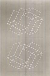 Josef Albers (American, 1888-1976). <em>White Embossing on Gray II</em>, 1971. 1 color line cut embossed, sheet: 26 1/2 x 20 1/8 in.  (67.3 x 51.1 cm). Brooklyn Museum, Gift of Leslie A. Feely, 2000.130.1. © artist or artist's estate (Photo: Brooklyn Museum, CUR.2000.130.1.jpg)