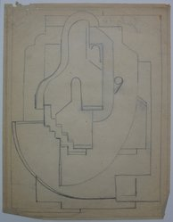 Blanche Lazzell (American, 1879-1956). <em>Sketch for Abstract Composition</em>, 1924. Graphite on paper, Sheet: 10 5/8 x 8 1/4 in. (27 x 21 cm). Brooklyn Museum, Gift of Dr. Abram Kanof and Theodore Keel, by exchange, Charles Stewart Smith Memorial Fund, and Dick S. Ramsay Fund, 2006.43.10. © artist or artist's estate (Photo: Brooklyn Museum, CUR.2006.43.10.jpg)