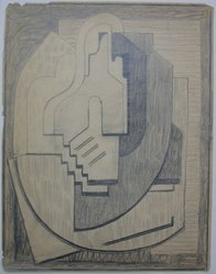 Blanche Lazzell (American, 1879-1956). <em>Sketch for Abstract Composition</em>, 1924. Graphite on paper, Sheet: 10 5/8 x 8 1/4 in. (27 x 21 cm). Brooklyn Museum, Gift of Dr. Abram Kanof and Theodore Keel, by exchange, Charles Stewart Smith Memorial Fund, and Dick S. Ramsay Fund, 2006.43.13. © artist or artist's estate (Photo: Brooklyn Museum, CUR.2006.43.13.jpg)