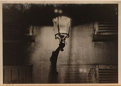 Ilse Bing (American, born Germany, 1899-1998). <em>Lamp Post, rue de la Chaise, Paris</em>, 1934. Gelatin silver photograph, Image: 4 5/8 x 6 5/8 in. (11.7 x 16.8 cm). Brooklyn Museum, Brooklyn Museum Collection, 2008.81. © artist or artist's estate (Photo: Brooklyn Museum, CUR.2008.81.jpg)