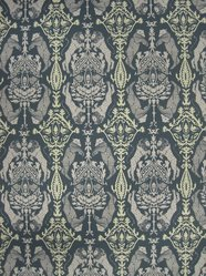 """Brian Kaspr and Payton Cosell Turner. <em>Wallpaper, """"Beastly Guardians"""" pattern</em>, designed 2010. Printed paper, a: 24 1/4 x 30 1/8 in. (61.6 x 76.5 cm). Brooklyn Museum, Gift of Flat Vernacular, 2012.64.7a-f. © artist or artist's estate (Photo: Brooklyn Museum, CUR.2012.64.7a-b.jpg)"""