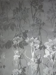 "Jill Malek (American, born 1976). <em>Wallpaper, ""Frequencies"" Line, ""Sleeping Briar Rose"" Pattern</em>, 2007. Printed (silk-screened) paper, a: 31 x 30 5/16 in. (78.7 x 77 cm). Brooklyn Museum, Gift of Jill Malek, 2012.66.2a-b. © artist or artist's estate (Photo: Brooklyn Museum, CUR.2012.66.2a-b.jpg)"