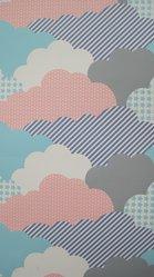 """Aimée Wilder (American, born 1979). <em>Wallpaper, """"Clouds"""" pattern</em>, designed 2008, released 2009. Printed paper, a: 24 x 27 1/8 in. (61 x 68.9 cm). Brooklyn Museum, Gift of Aimée Wilder, 2012.67.7a-e. © artist or artist's estate (Photo: Brooklyn Museum, CUR.2012.67.7b.jpg)"""