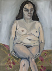 Jemima Kirke (American, born England 1985). <em>Lena</em>, 2011. Oil on canvas, 46 1/2 x 34 in. (118.1 x 86.4 cm). Brooklyn Museum, Gift of Adam Sheffer in honor of Dr. Emily H. Sheffer, 2013.95. © artist or artist's estate (Photo: Brooklyn Museum, CUR.2013.95.jpg)