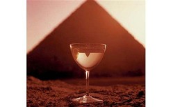 Bert Stern (American, 1929-2013). <em>[Untitled] (Smirnoff, Great Pyramid of Giza)</em>, 1955. Dye transfer photograph, 36 x 36 in. (91.4 x 91.4 cm). Brooklyn Museum, Gift of Timothy Greenfield-Sanders, 2014.120.1. © artist or artist's estate (Photo: Image courtesy of the artist, CUR.2014.120.1_Stern_photograph.jpg)