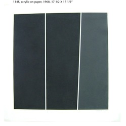 Tom V. Schmitt (American, born 1929). <em>Deep Black 114F</em>, 1969. Acrylic on paper, 17 1/2 x 17 1/2 in. (44.5 x 44.5 cm). Brooklyn Museum, Gift of the artist, 2014.85.1. © artist or artist's estate (Photo: Image courtesy of the artist, CUR.2014.85.1_Schmitt_photograph.jpg)