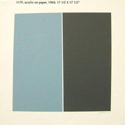 Tom V. Schmitt (American, born 1929). <em>Soft Grey Blue 117F</em>, 1969. Acrylic on paper, 17 1/2 x 17 1/2 in. (44.5 x 44.5 cm). Brooklyn Museum, Gift of the artist, 2014.85.2. © artist or artist's estate (Photo: Image courtesy of the artist, CUR.2014.85.2_Schmitt_photograph.jpg)