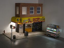 Drew Hamilton (American, born 1984). <em>Street-Corner Project</em>, 2013. Mixed media, 78 x 108 x 60 in. (198.1 x 274.3 x 152.4 cm). Brooklyn Museum, Gift of the artist, 2015.12. © artist or artist's estate (Photo: Image courtesy of the artist, CUR.2015.12_Hamilton_photograph.jpg)