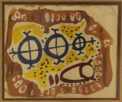 Roland Dorcely (Haitian, born 1930). <em>Untitled</em>, ca. 1957. Watercolor on paper, sight: 9 x 12 in. (22.9 x 30.5 cm). Brooklyn Museum, Gift of Vivian D. Hewitt, 2015.14.3. © artist or artist's estate (Photo: Brooklyn Museum, CUR.2015.14.3.jpg)