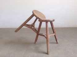 Ai Weiwei (Chinese, born 1957). <em>Stool</em>, 2014. Wood, 31 1/2 x 20 1/16 x 24 13/16 in. (80 x 51 x 63 cm). Brooklyn Museum, Gift of Ai Weiwei in honor of Arnold Lehman, 2015.21. © artist or artist's estate (Photo: Image courtesy of the artist, CUR.2015.21_WeiWei_photograph.jpg)