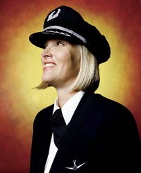 Andres Serrano (American, born 1950). <em>Captain Tracy Thompson, American Eagle</em>, 2002. Silver dye bleach photograph (Cibachrome), sheet: 50 x 60 in. (127 x 152.4 cm). Brooklyn Museum, Gift of Irina and Andres Serrano in honor of Arnold  Lehman, 2015.33.1. © artist or artist's estate (Photo: Image courtesy of the artist, CUR.2015.33.1_Serrano_photograph.jpg)