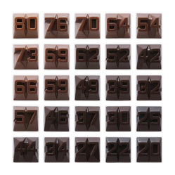 Diller Scofidio + Renfro. <em>Bittersweet</em>, 2011. 25 pieces of chocolate in a box, Closed box: 7 1/2 x 7 1/2 x 1 9/16 in. (19 x 19 x 4 cm). Brooklyn Museum, Gift of Arnold and Pamela Lehman, 2015.56.19a-b. © artist or artist's estate (Photo: Image courtesy of the artist, CUR.2015.56.19a-b_Capizzi_photograph.jpg)