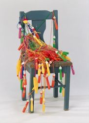 Lonnie B. Holley (American, born 1950). <em>Early Beginner</em>, 1994. Wood, fabric, plastic, 35 1/2 × 20 × 21 in. (90.2 × 50.8 × 53.3 cm). Brooklyn Museum, Gift of the Souls Grown Deep Foundation from the William S. Arnett Collection, 2018, 2018.28.9. © artist or artist's estate (Photo: , CUR.2018.28.9.jpg)