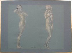 J. Mortimer Lichtenauer (American, 1876-1966). <em>Two Nudes</em>, n.d. Graphite and pastel on paper, sheet: 13 1/8 x 17 5/8 in. (33.3 x 44.8 cm). Brooklyn Museum, Gift of the artist, 29.60. © artist or artist's estate (Photo: Brooklyn Museum, CUR.29.60.jpg)