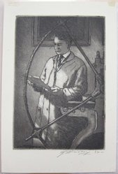 Edward Timothy Hurley (American, 1869-1950). <em>Self Portrait</em>. Etching and aquatint, Sheet: 8 7/8 x 5 7/8 in. (22.6 x 14.9 cm). Brooklyn Museum, Gift of the artist, 35.1000. © artist or artist's estate (Photo: Brooklyn Museum, CUR.35.1000.jpg)