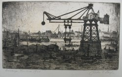 Julius F. Gayler (American, 1872-1948). <em>Constanza, Roumania</em>, 1928. Etching, sheet: 8 15/16 x 13 1/2 in. (22.7 x 34.3 cm). Brooklyn Museum, Gift of the artist, 35.1927. © artist or artist's estate (Photo: Brooklyn Museum, CUR.35.1927.jpg)