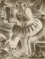 George Kenneth Hartwell (American, 1891-1949). <em>Circus</em>, 1931. Lithograph on white wove paper, Image: 8 15/16 x 6 7/8 in. (22.7 x 17.5 cm). Brooklyn Museum, Gift of the artist, 35.668. © artist or artist's estate (Photo: Brooklyn Museum, CUR.35.668.jpg)