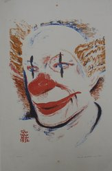 George Kenneth Hartwell (American, 1891-1949). <em>Clown</em>, 1932. Lithograph on white wove paper, Image: 13 1/8 x 9 1/2 in. (33.3 x 24.1 cm). Brooklyn Museum, Gift of the artist, 35.858. © artist or artist's estate (Photo: Brooklyn Museum, CUR.35.858.jpg)