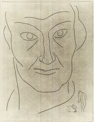 "Henri Matisse (French, 1869-1954). <em>[Untitled] (Illustration for the Poem ""Le Tombeau de Charles Baudelaire"")</em>, 1932. Etching on wove paper, Sheet: 13 x 9 7/8 in. (33 x 25.1 cm). Brooklyn Museum, Carll H. de Silver Fund, 36.67.26. © artist or artist's estate (Photo: Brooklyn Museum, CUR.36.67.26.jpg)"