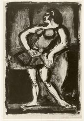 Georges Rouault (French, 1871-1958). <em>Carmencita</em>. Lithograph on wove Arches paper, 13 9/16 x 8 15/16 in. (34.5 x 22.7 cm). Brooklyn Museum, By exchange, 37.115. © artist or artist's estate (Photo: Brooklyn Museum, CUR.37.115.jpg)