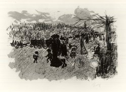 Pierre Bonnard (French, 1867-1947). <em>Avenue du Bois de Boulogne</em>, ca. 1898. Color lithograph on wove paper, Image: 12 3/8 x 19 in. (31.4 x 48.3 cm). Brooklyn Museum, By exchange, 37.457. © artist or artist's estate (Photo: Brooklyn Museum, CUR.37.457.jpg)