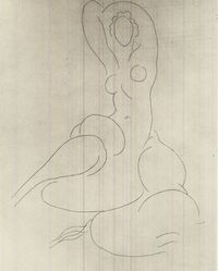 Henri Matisse (French, 1869-1954). <em>Odalisque</em>, 1934. Etching on China paper laid down, Plate: 14 7/16 x 11 1/4 in. (36.6 x 28.6 cm). Brooklyn Museum, Gift of the Print Club of Cleveland, 39.590. © artist or artist's estate (Photo: Brooklyn Museum, CUR.39.590.jpg)
