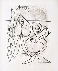 A3 Picasso Bibliothèqve NationaleVintage PosterA1 A2