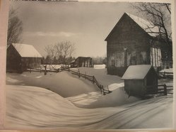 Newell Green (American, 1901-1993). <em>Winter Blanket</em>, early 20th century. Toned photograph, 10 1/4 x 13 1/2 in. (26 x 34.3 cm). Brooklyn Museum, Gift of the artist, 40.885. © artist or artist's estate (Photo: Brooklyn Museum, CUR.40.885.jpg)