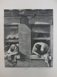 Lawrence Beall Smith (American, 1909-1995). <em>The Gossips</em>, 1938. Lithograph on paper, Sheet: 16 x 12 in. (40.6 x 30.5 cm). Brooklyn Museum, Dick S. Ramsay Fund, 41.1167. © artist or artist's estate (Photo: Brooklyn Museum, CUR.41.1167.jpg)