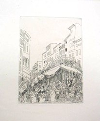 Raoul Dufy (French, 1877-1953). <em>Etching for Chapter 11 of La Belle Enfant</em>. Etching, Sheet: 12 3/4 x 9 13/16 in. (32.4 x 25 cm). Brooklyn Museum, Charles Stewart Smith Memorial Fund, 41.858.13. © artist or artist's estate (Photo: Brooklyn Museum, CUR.41.858.13.jpg)
