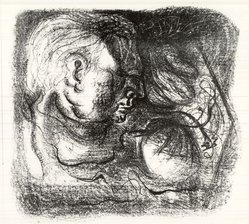 André Masson (French, 1896-1987). <em>The Engraver</em>, 20th century. Lithograph on paper, 17 5/16 x 15 3/8 in. (44 x 39 cm). Brooklyn Museum, Carll H. de Silver Fund, 45.36. © artist or artist's estate (Photo: Brooklyn Museum, CUR.45.36.jpg)