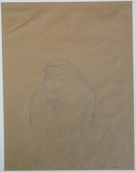 Alfred Frueh (American, 1880-1968). <em>Sketch of Abraham Walkowitz</em>, 1943. Graphite on paper, sheet: 10 7/16 x 8 1/16 in. (26.5 x 20.5 cm). Brooklyn Museum, Gift of Abraham Walkowitz, 47.146.2. © artist or artist's estate (Photo: Brooklyn Museum, CUR.47.146.2.jpg)