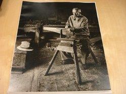 Albee J. Gulau (American). <em>Saw Sharpener</em>. Photograph, 14 x 17 in. (35.6 x 43.2 cm). Brooklyn Museum, Gift of the artist, 47.155. © artist or artist's estate (Photo: Brooklyn Museum, CUR.47.155.jpg)