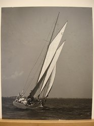 Louis J. Parker. <em>Schooner Gentrice</em>. Photograph, 16 1/2 × 13 1/2 in. (41.9 × 34.3 cm). Brooklyn Museum, Gift of the artist, 47.157 (Photo: Brooklyn Museum, CUR.47.157.jpg)