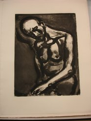 Georges Rouault (French, 1871-1958). <em>Le Dur Métier de Vivre...</em>, 1922. Etching, aquatint, and heliogravure on laid Arches paper, 18 3/4 x 14 3/16 in. (47.7 x 36 cm). Brooklyn Museum, Frank L. Babbott Fund, 50.15.12. © artist or artist's estate (Photo: Brooklyn Museum, CUR.50.15.12.jpg)