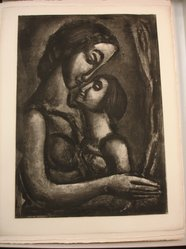 Georges Rouault (French, 1871-1958). <em>Il Serait si Doux d'Aimer!</em>, 1922. Etching, aquatint, and heliogravure on laid Arches paper, 22 11/16 x 16 1/4 in. (57.7 x 41.3 cm). Brooklyn Museum, Frank L. Babbott Fund, 50.15.13. © artist or artist's estate (Photo: Brooklyn Museum, CUR.50.15.13.jpg)