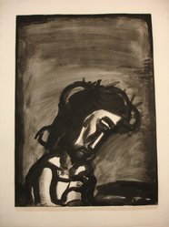 Georges Rouault (French, 1871-1958). <em>Jésus Honni...</em>, 1922. Etching, aquatint, and heliogravure on on laid Arches paper, 21 7/16 x 15 3/4 in. (54.5 x 40 cm). Brooklyn Museum, Frank L. Babbott Fund, 50.15.2. © artist or artist's estate (Photo: Brooklyn Museum, CUR.50.15.2.jpg)