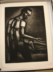 Georges Rouault (French, 1871-1958). <em>En Tant d'Ordres Divers, le Beau  Métier d'Ensemencer une Terre Hostile.</em>, 1926 (possibly). Etching, aquatint, and heliogravure on laid Arches paper, 23 1/4 x 16 15/16 in. (59.1 x 43.1 cm). Brooklyn Museum, Frank L. Babbott Fund, 50.15.22. © artist or artist's estate (Photo: Brooklyn Museum, CUR.50.15.22.jpg)