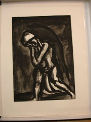 "Georges Rouault (French, 1871-1958). <em>""Hiver Lèpre de la Terre.,""</em> 1922. Etching, aquatint, and heliogravureon laid Arches paper on laid Arches paper, 20 1/4 x 14 7/16 in. (51.5 x 36.7 cm). Brooklyn Museum, Frank L. Babbott Fund, 50.15.24. © artist or artist's estate (Photo: Brooklyn Museum, CUR.50.15.24.jpg)"