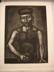 Georges Rouault (French, 1871-1958). <em>Jean-François Jamais né Chante Alleluia...</em>, 1923. Etching, aquatint, and heliogravure on laid Arches paper, 23 1/8 x 16 11/16 in. (58.7 x 42.4 cm). Brooklyn Museum, Frank L. Babbott Fund, 50.15.25. © artist or artist's estate (Photo: Brooklyn Museum, CUR.50.15.25.jpg)