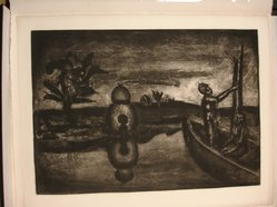 Georges Rouault (French, 1871-1958). <em>Au Pays de la Soif et de la Peur.</em>, 1923. Etching, aquatint, and heliogravure on laid Arches paper, 16 1/4 x 23 1/16 in. (41.3 x 58.5 cm). Brooklyn Museum, Frank L. Babbott Fund, 50.15.26. © artist or artist's estate (Photo: Brooklyn Museum, CUR.50.15.26.jpg)