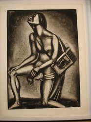 Georges Rouault (French, 1871-1958). <em>Sunt Lacrymae Rerum...</em>, 1926. Etching, aquatint, and heliogravure on laid Arches paper, 22 7/8 x 16 3/8 in. (58.1 x 41.6 cm). Brooklyn Museum, Frank L. Babbott Fund, 50.15.27. © artist or artist's estate (Photo: Brooklyn Museum, CUR.50.15.27.jpg)