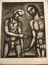 Georges Rouault (French, 1871-1958). <em>Seigneur C'est Vous, je Vous Reconnais.</em>, 1927. Etching, aquatint, and heliogravure on laid Arches paper, 22 5/8 x 17 11/16 in. (57.5 x 45 cm). Brooklyn Museum, Frank L. Babbott Fund, 50.15.32. © artist or artist's estate (Photo: Brooklyn Museum, CUR.50.15.32.jpg)