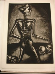 Georges Rouault (French, 1871-1958). <em>Homo Homini Lupus.</em>, 1926. Etching, aquatint, and heliogravure on laid Arches paper, 22 7/8 x 16 9/16 in. (58.1 x 42 cm). Brooklyn Museum, Frank L. Babbott Fund, 50.15.37. © artist or artist's estate (Photo: Brooklyn Museum, CUR.50.15.37.jpg)