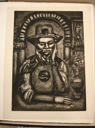 Georges Rouault (French, 1871-1958). <em>Le Chinois Inventa, Dit-On la Poudre à Canon, Nous en Fit Don.</em>, 1926. Etching, aquatint, and heliogravure on laid Arches paper, 22 11/16 x 16 3/8 in. (57.7 x 41.6 cm). Brooklyn Museum, Frank L. Babbott Fund, 50.15.38. © artist or artist's estate (Photo: Brooklyn Museum, CUR.50.15.38.jpg)