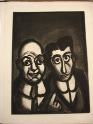 Georges Rouault (French, 1871-1958). <em>Nous sommes fous.</em>, 1922. Etching, aquatint, and heliogravure on laid Arches paper, 22 7/16 x 16 1/4 in. (57 x 41.3 cm). Brooklyn Museum, Frank L. Babbott Fund, 50.15.39. © artist or artist's estate (Photo: Brooklyn Museum, CUR.50.15.39.jpg)