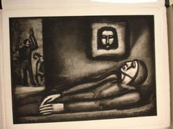 Georges Rouault (French, 1871-1958). <em>De Profundis...</em>, 1927. Etching, aquatint, and heliogravure on laid Arches paper, 17 1/16 x 23 9/16 in. (43.3 x 59.8 cm). Brooklyn Museum, Frank L. Babbott Fund, 50.15.47. © artist or artist's estate (Photo: Brooklyn Museum, CUR.50.15.47.jpg)