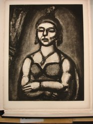 """Georges Rouault (French, 1871-1958). <em>""""Des Ongles et du Bec.,""""</em> 1926. Etching, aquatint, and heliogravure on laid Arches paper, 22 5/8 x 17 1/2 in. (57.5 x 44.4 cm). Brooklyn Museum, Frank L. Babbott Fund, 50.15.50. © artist or artist's estate (Photo: Brooklyn Museum, CUR.50.15.50.jpg)"""